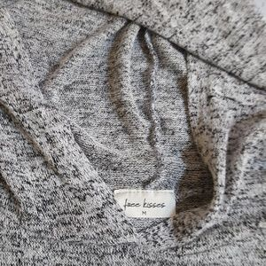 Free Kisses Tops - Grey hooded lightweight top